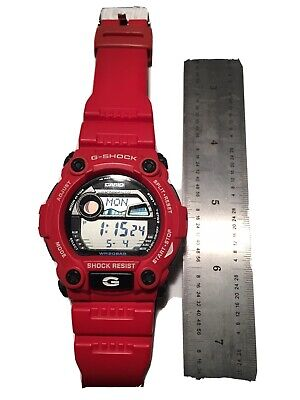 Casio G-Shock Rescue Red Digital Sport Watch G7900A Nice Pre Owned