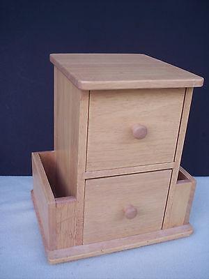 Kamenstein Desk Caddy Solid Wood Organizer Drawers Rotating Letter Key Holder