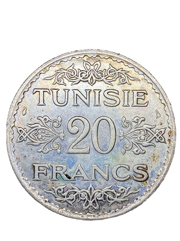 Tunisia – Amazing 20 Francs 1353-1934 – Silver – KM 263 – QUALITY !