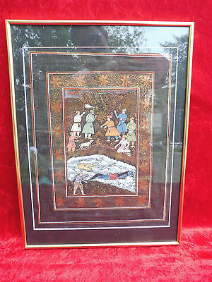 _ Beautiful Picture___Oriental Miniature ___ Framed___