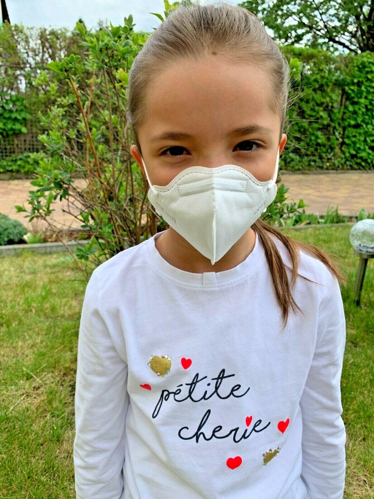 FFP2 KN95 Kinder Mundschutz Atem Maske Schutzmaske MundNase 1-5-10Stk AKTION NEU