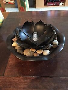 Fountain and candle holder