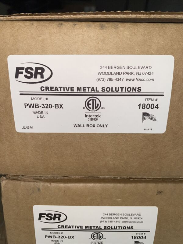 Fsr Creative Metal Solutions Pwb-320-bx Wall Box Only