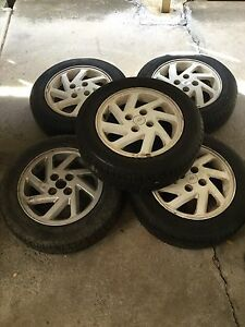 4 stud ford laser wheels and 5 WHEELS Cairnlea Brimbank Area Preview
