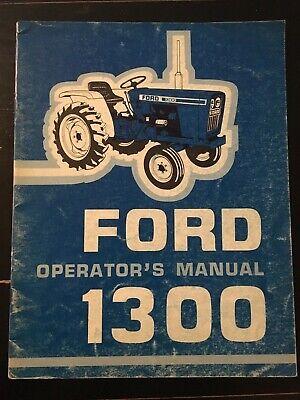 Ford1300tractoroperators Manual