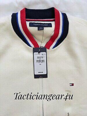 Tommy Hilfiger Jacket Coat Fleece Zip Bomber New Men's