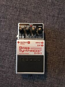 Boss bass synthesizer synth. Syb-5