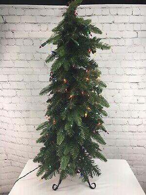 Bethlehem Lights 3' Slim Green Downswept Christmas Decorator Tree QVC Multi ()