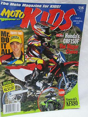 Moto Kids Magazine March April 2003 Dirt Bike Motocross Kawasaki KFX80
