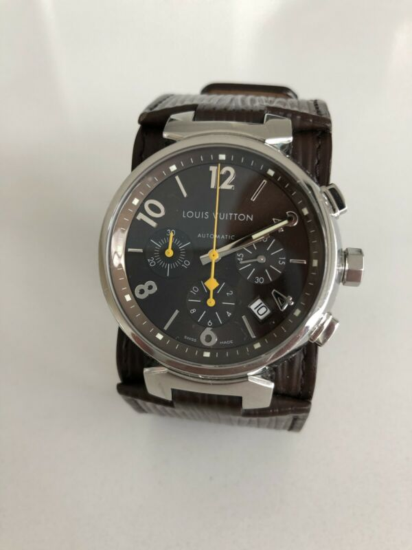 Authentic Louis Vuitton Tambour Chronograph Automatic Men's  Watch!