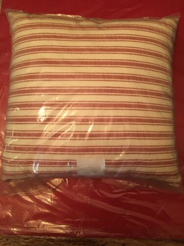 Sour & Cream Linen, Cotton Stripe Throw Pillow  - Threshold
