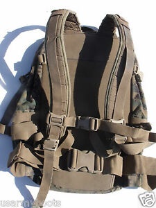 USMC-MARINE-ASSAULT-BACK-PACK-Woodland-MARPAT-ILBE-3-Day-GEN-2-Bug-Out-POOR-cond