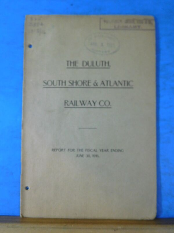 Duluth South Shore & Atlantic Railway Co Annual Report 1916