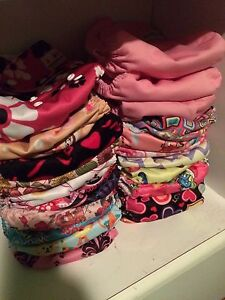 Cloth diaper lot, mostly girly prints