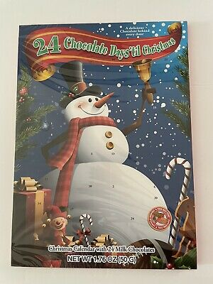 24 Chocolate Days Til Christmas Advent Frosty Snowman Countdown Calendar New