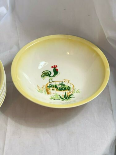 Paden City Provincial Rooster Round Vegetable Serving Bowl- Gently Used