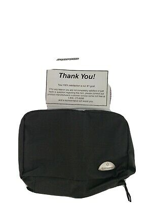 Samsonite Men's black Full zipper one size toiletry mini pouch bag