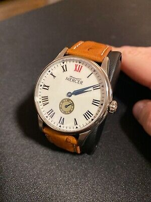 Mercer Watch Co - MADISON WHITE ENAMEL 40MM, Manual Wind