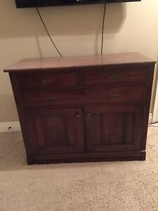 Antique Dining room Sideboard With Marble Top