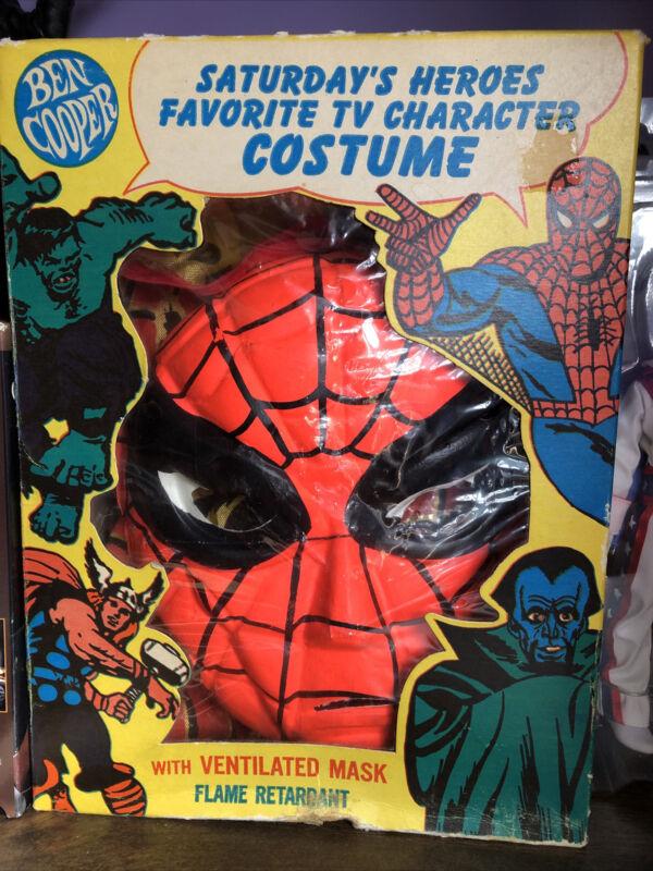 vintage ben cooper halloween costume Spider-Man Very Rare