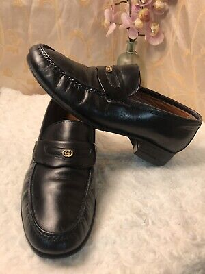 Gucci 40 Vintage Mens Loafers Shoes