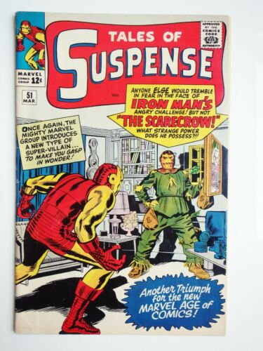 MARVEL TALES OF SUSPENSE #51 IRON MAN COMIC 1ST SCARECROW SILVER AGE