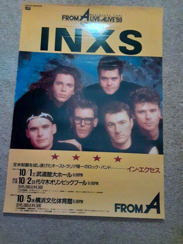 Inxs Concert Poster Japan SUPER RARE