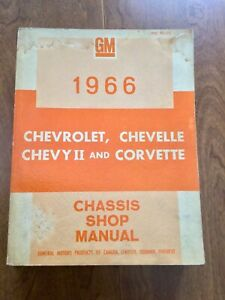 1966 Chevrolet Chevelle Chevy II Corvette Shop Manual