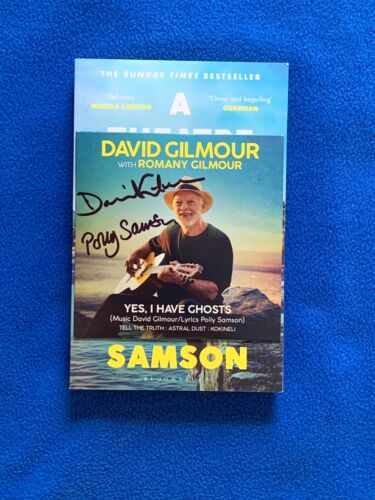 David Gilmour & Polly Samson Signed YES I HAVE GHOSTS CD and Book Bundle