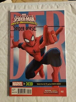 ULTIMATE SPIDER-MAN WEB WARRIORS #2 (Spider-Verse, TV Show) Marvel, (Ultimate Spider Man Web Warriors Spider Verse)