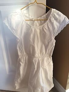 Girls white cotton dress H&M 8 9 and tea collection sundress