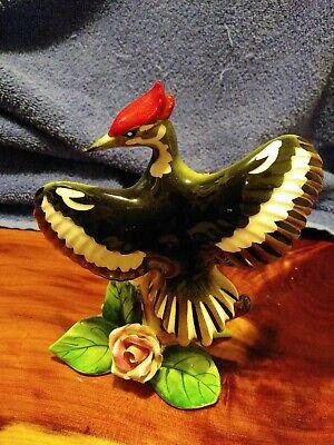 Ceramic Bird Woodpecker no chips or cracks beautiful!!!  Unsigned
