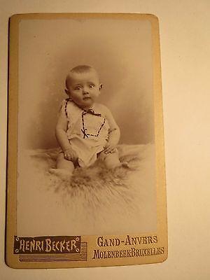 Gand - Anvers - Antwerpen - Molenbeek-Bruxelles Brüssel kleines Kind - Baby /CDV