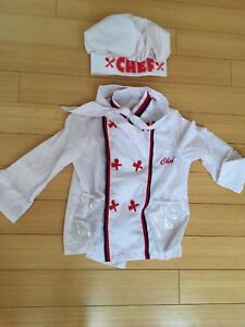 Kids costume - chef jacket and hat