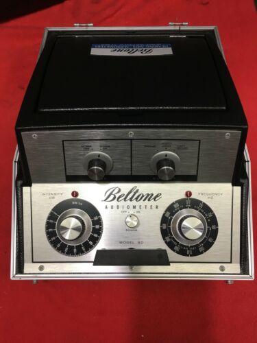 Vintage Beltone Model 9D Portable Audiometer with Headphones, Power Cord