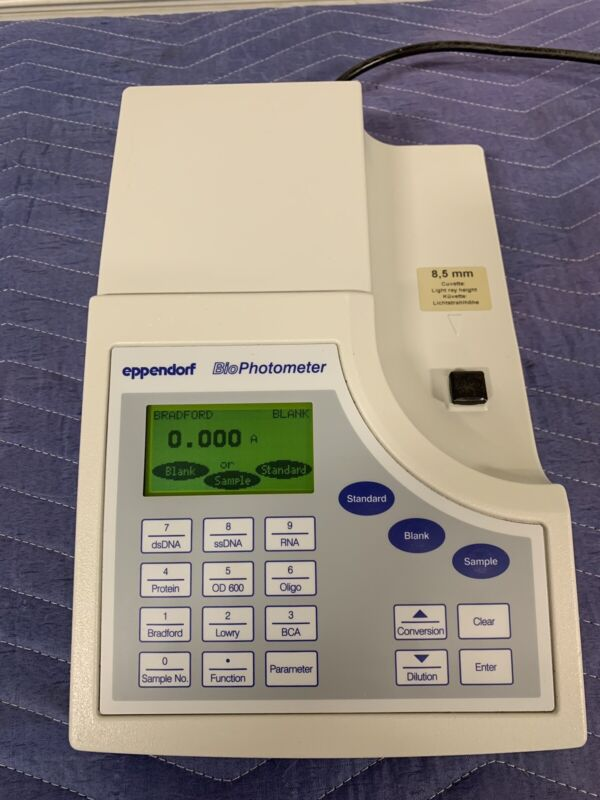 eppendorf BioPhotometer - Model No: 6131 01292