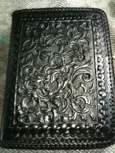 Vintage Mary Alice Palmer Leather Hand Tooled Western Style Journal Book Cover