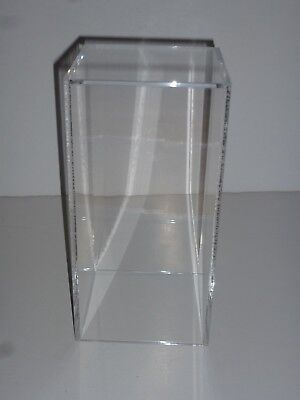 6 X 6 X 12 Clear Lucite Acrylic Display Case Cover Lid Box No Base