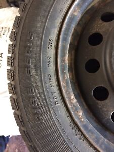 4 Winter tires on rims Good Year Ultra Grip 185/65 r15