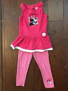 Adorable little girl Minnie mouse outfit