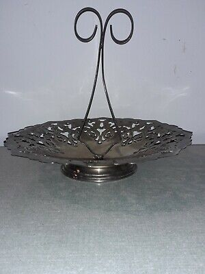 Metal Cake Stand Art Nouveau Poppy