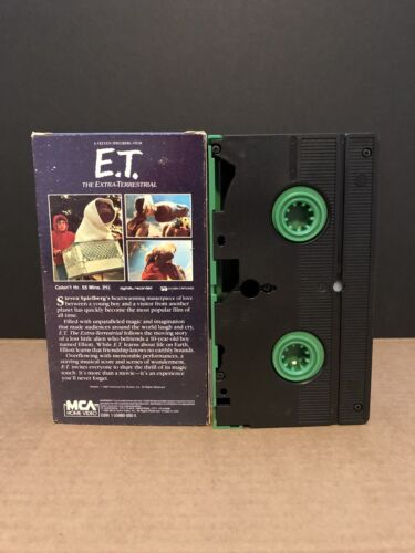 E.T. The Extra-Terrestrial VHS Green Edition - $8.00