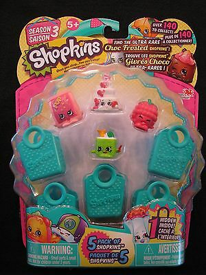 Shopkins Season 3, Find Ultra Rare Choc Frosted - 5 Pack of Shopkins