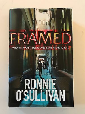 RONNIE O'SULLIVAN HAND SIGNED BOOK 'FRAMED' FULL AUTOGRAPH RARE.