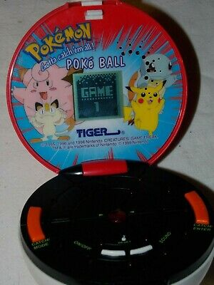 Pokemon Pokeball Handheld Electronic Game 1999 Tiger - Works! (lot 779)