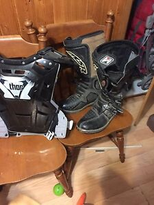 MSR motoboots and Thor chest protector  adult size