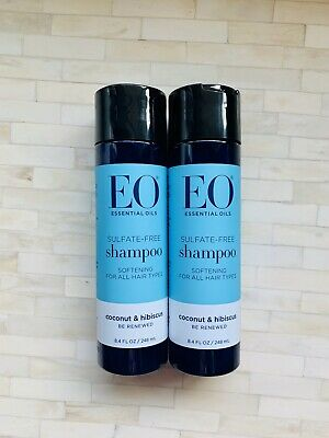 (2) EO Products Everyday Shampoo Coconut & Hibiscus Sulfate-free 8.4 oz ea Eo Coconut Shampoo