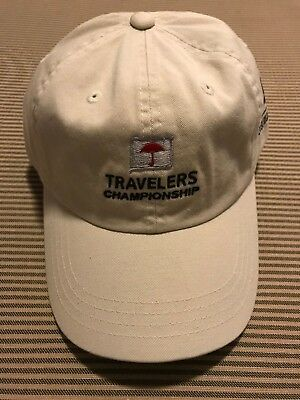 58d8929c9f1 New Travelers Championship hat one size fits all adjustable strap golf PGA