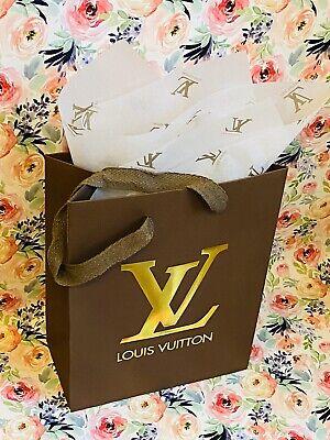 NEW LOUIS VUITTON  Shopping Gift Bag  +  1 PC LOUIS VUITTON Tissue Paper