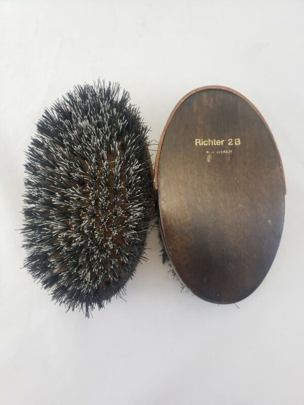 2 Vintage Rare Richter 2B Horse Livestock Hair Grooming Brushes Dog West Germany